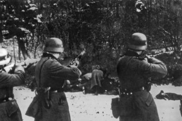 Nazis shooting civilians