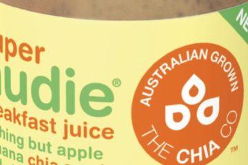 Nudie Juice bottle label