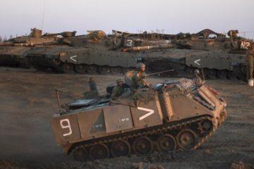 Israeli tank on Golan Heights