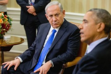 President Obama and Prime Minister Netanyahu at a meeting at the White House