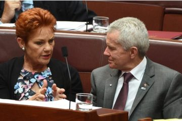Pauline Hanson and Malcolm Roberts in the Senate