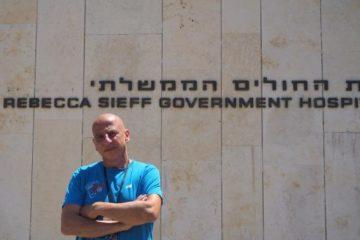 Dr Harari outside his hospital