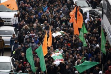 Funeral procession in Hebron