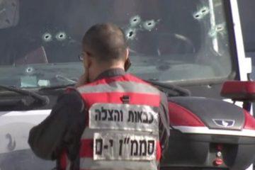Emergency responder at the scene of the Jerusalem terror attack