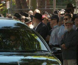 mourners at Thalia Hakin's funeral