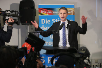 Hocke at a press conference