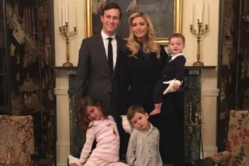 Ivanka Trump posing with her family