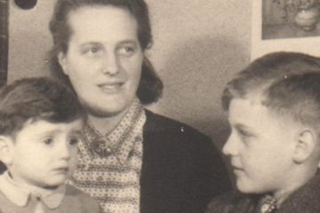Elizabeth Joustra with her adopted son
