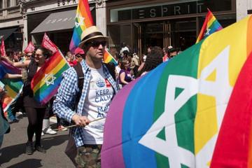 Jewish participants in a Pride Parade