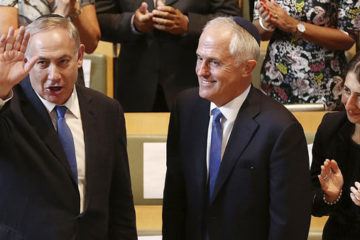 Prime Minister Netanyahu and Turnbull at Central Synagogue