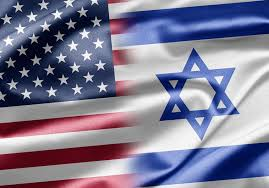 American and Israeli flags intertwined