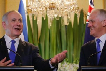 Prime Ministers Turnbull and Netanyahu at a press conference