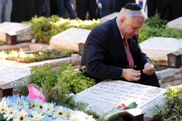 Prime Minister Netanyahu at his brother's grave