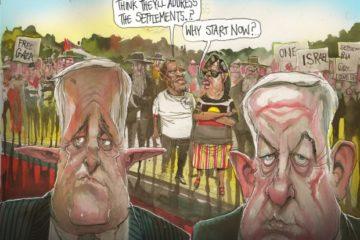 cartoon by David Rowe of Turnbull and Netanyahu