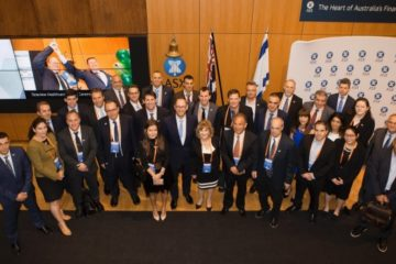 The Israeli delegation on recent visit to Australia