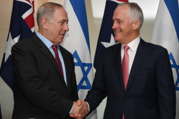 Prime Ministers shaking hands