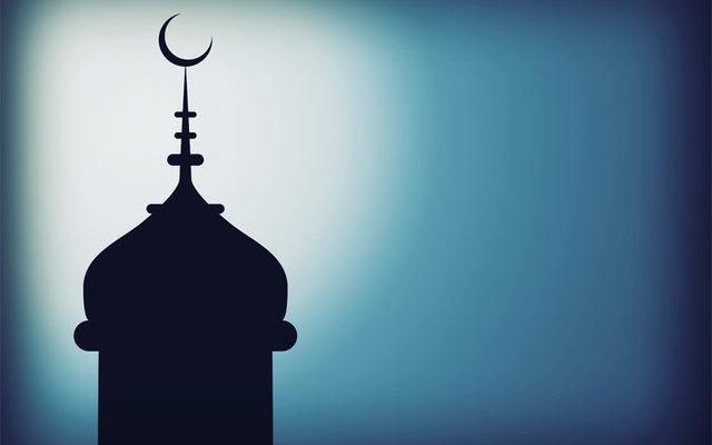silhouette of a minaret