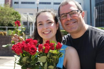 Father and daughter Talia and Michael Rubinstein