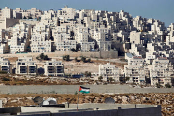 Settlement and palestinian village