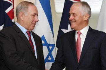 Prime Ministers Netanyahu and Turnbull in Australia