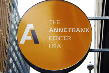 Anne Frank Center sign