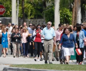 people being evacuated from a bomb threat