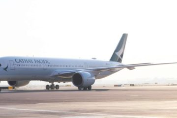 Cathay plane on the tarmac