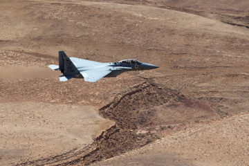 Israel fighter jet in the air