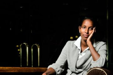 Hirsi Ali posing