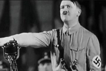Hitler giving a speech