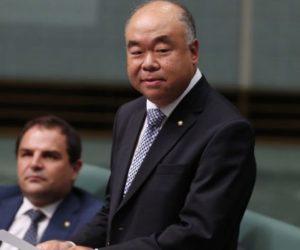MP Ian Goodenough in Parliament