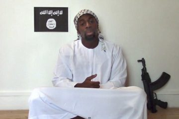 ISIS member in a video still