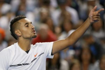 Kyrgios getting angry on court