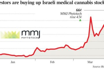 graph of investment in an Israeli medical stock