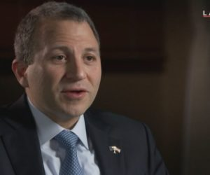 Gebran Bassil during the interview