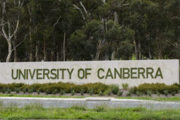 University of Canberra sign