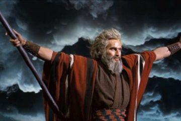 Charlton Heston in a still from The Ten Commandments