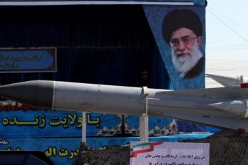 military parade of weapons in iran