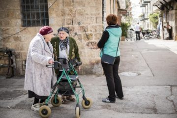 two old ladies in Jerusalem