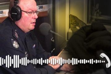 Vic police chief Graham Ashton on the radio