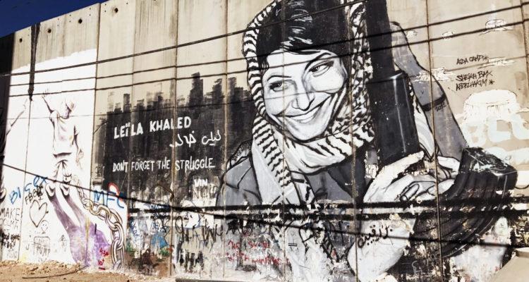 graffiti on separation wall