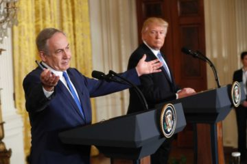 Bibi and Trump at joint press conference in February