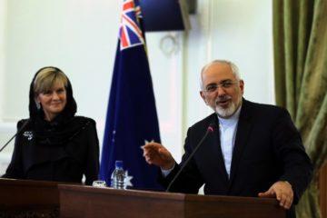 JUlie Bishop with Zarif in Iran