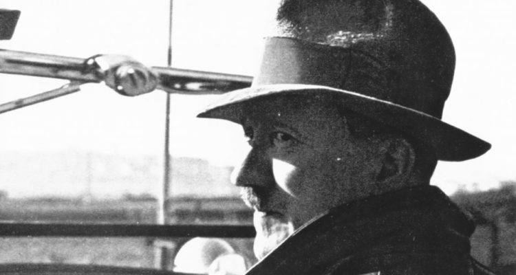 profile of Hitler in a hat
