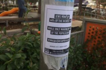 the poster wrapped around a street pole