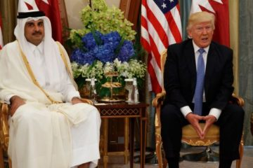 President Trump with Qatar President in May