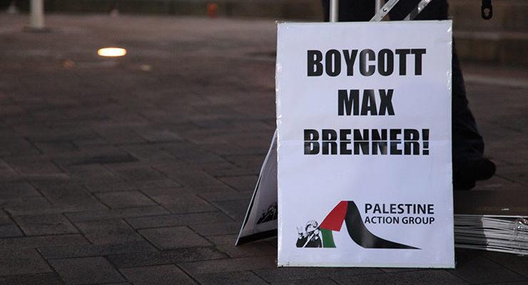 a boycott max brenner sign
