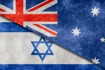 australia and israel flags