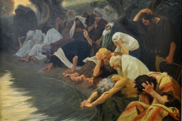 painting of Jews weeping by the river of Babylon