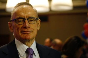 Bob Carr looking particularly smug